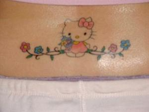 cute lower back tattoo