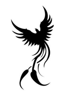 Cool Tribal Phoenix Tattoo Designs free