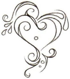 picture of cute heart tattoo