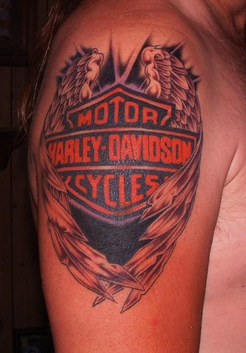 Biker tattoos tattoo art gallery for Free harley davidson tattoo designs