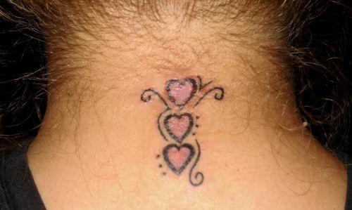 Tribal Rose Temporary Tattoo