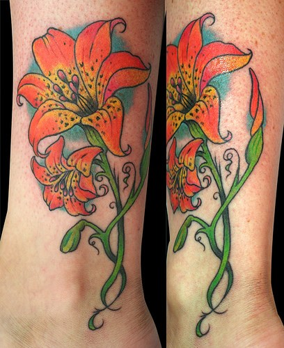 Lily Flower Tattoo Design: Lily Flower Tattoos