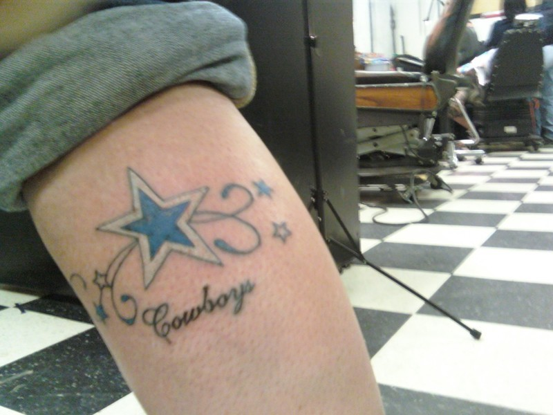 Dallas cowboys tattoos tattoo art gallery for Dallas cowboys star tattoo