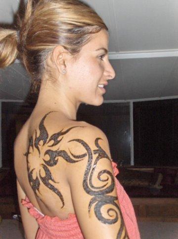 ideas for tattoo. tribal girl tattoo ideas