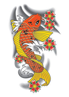 Japan koi fish tattoo art gallery for Japanese word for fish