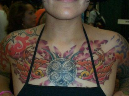 Chest tattoos for women tattoo art gallery for Chest tattoo for women