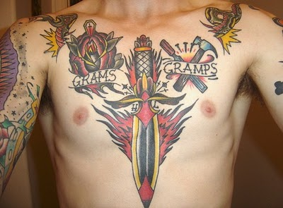 Men Chest Tattoos
