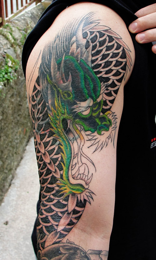 sleeve tattoo designs tribal japanese and dragon tattoos around your arms or legs tattoo. Black Bedroom Furniture Sets. Home Design Ideas
