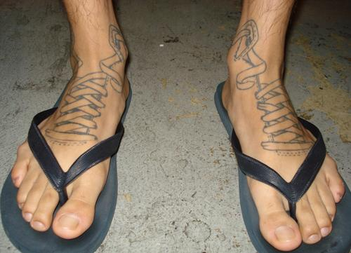 Foot tattoos for men tattoo art gallery for Ankle tattoos for guys