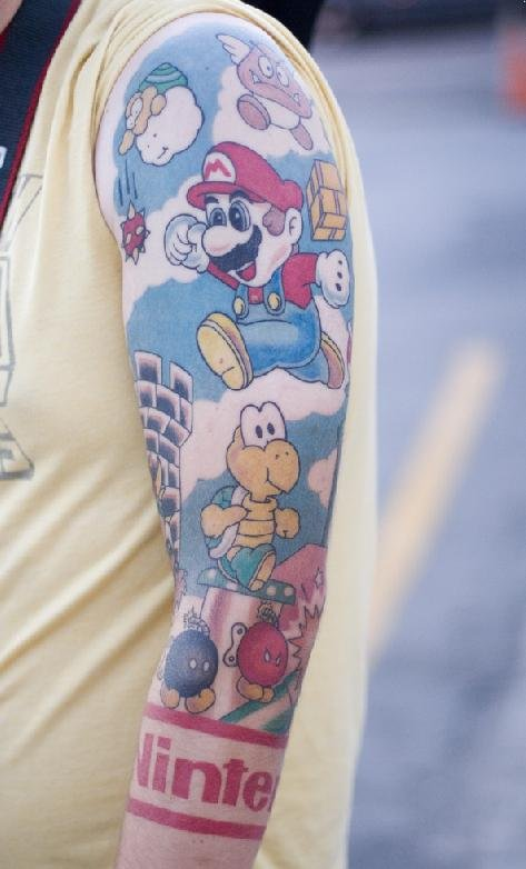 90s Cartoon Tattoos Sleeve