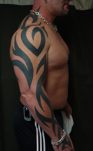 Full Arm Tribal Tattoo Designs