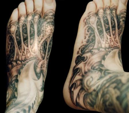 biomechanical giger tattoo - photo #30