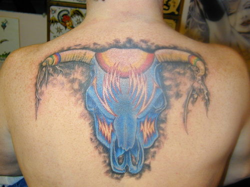 tattoos tribal eagles with back artwork . Blue bolt mask lightning on