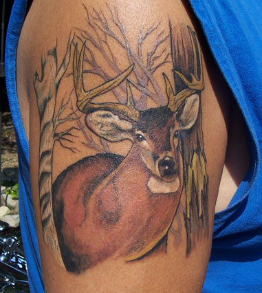 Deer Tattoo Designs for Men