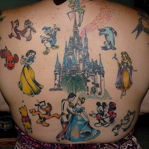 Disney tattoos tattoo art gallery for Disney world tattoos