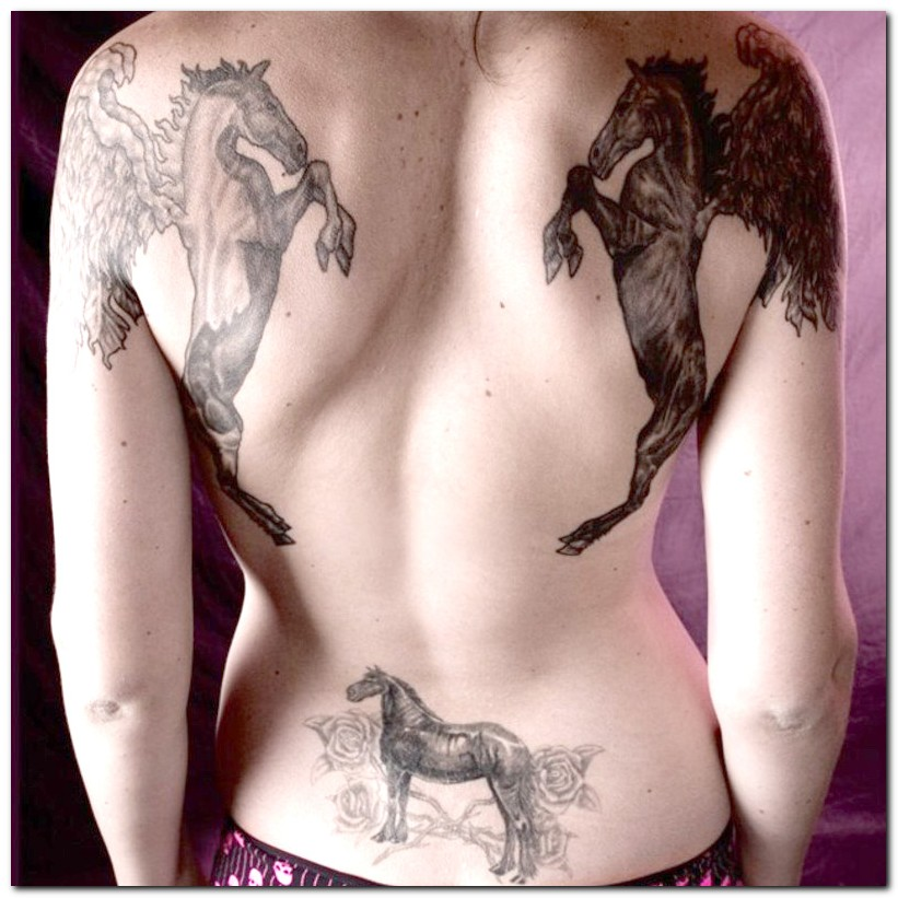 tribal horse tattoo. Horse Tattoos