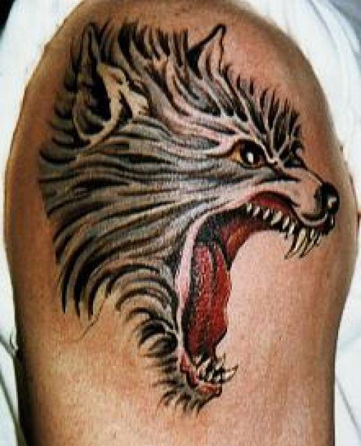 Тату волк и ворон значение тату