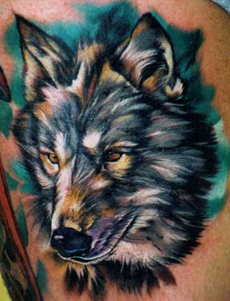 wolf tattoo art. Wolf Head Tattoos « tattoo art