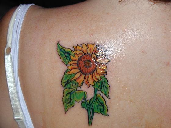 Small Sunflower Tattoo Designs: Tattoo Art Gallery